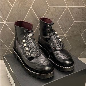 Chanel Short Boots (Combat Boots) LIKE NEW!